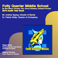 2010 FQMS Audio Yearbook Cover